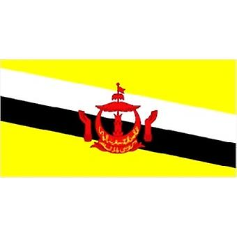 Brunei Flag 5ft x 3ft With Eyelets For Hanging