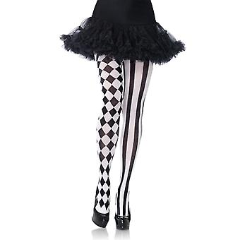 Tights with Harlequin print