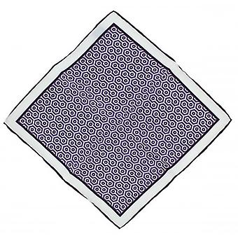 Michelsons of London Diamonds Silk Pocket Square - Purple