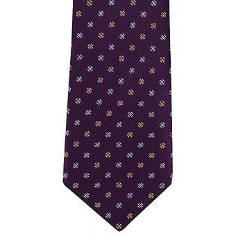 Michelsons of London Textured Pip Silk Tie - Purple