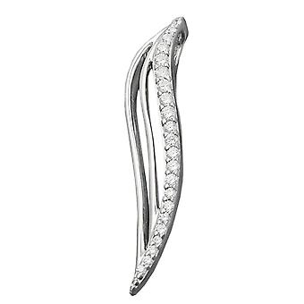Delicate pendant silver pendant of zirconias rhodium plated 925 Silver