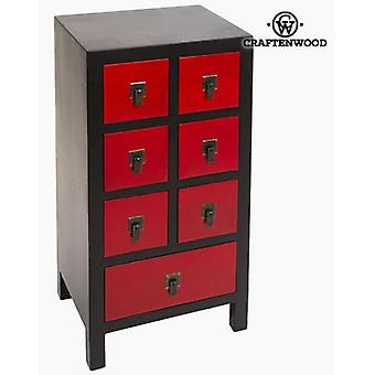 Bigbuy Hall mdf black red (Furniture , Lobby , Sideboards & Buffets)