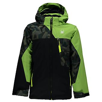 Spyder QUEST boy's ambush young ski jacket black