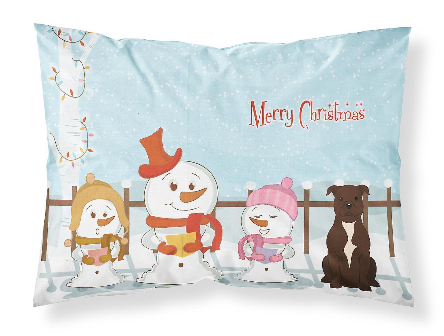 Pi Staffordshire Noël Chanteurs Standard Tissu Terrier Joyeux Chocolat Bull CedoQxWrB