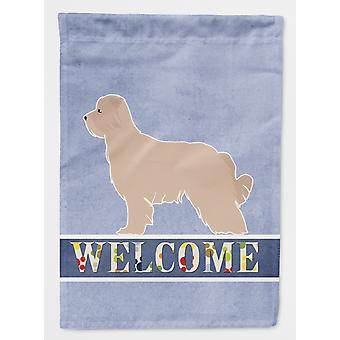 Carolines Treasures  BB5522CHF Pyrenean Shepherd Welcome Flag Canvas House Size
