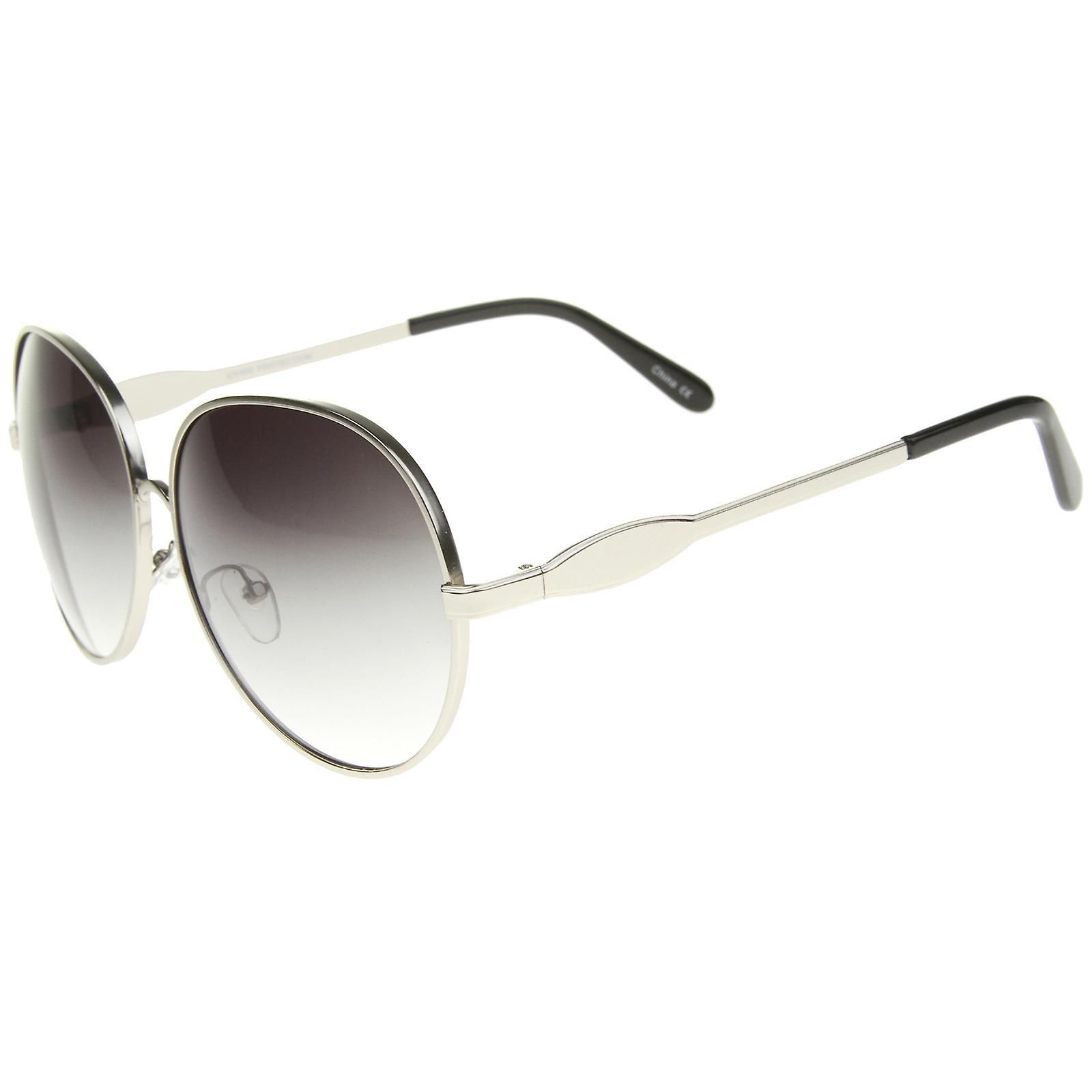 51e477e84e06 Womens Glam Full Metal ramme store runde solbriller 63mm