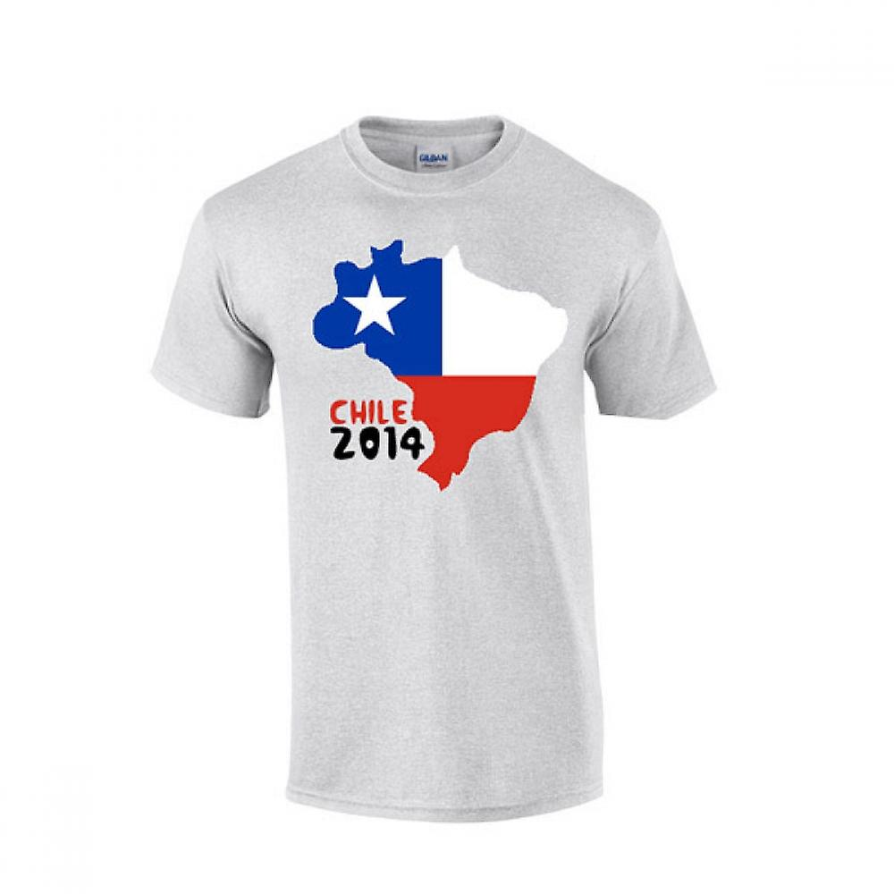 Chile 2014 Country Flag T-shirt (grey)