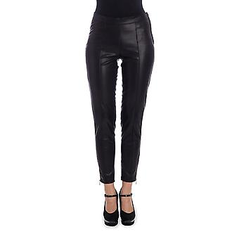 Twin set women's PA72QC00006 black polyester pants