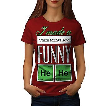 Funny Chemistry Geek Women RedT-shirt | Wellcoda
