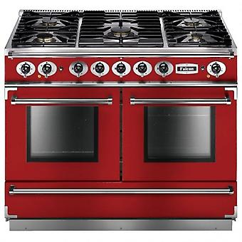 FALCON FCON1092DFRDNM 87160 - 110cm 1092 Dual Fuel Range Cooker, Red