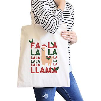 Falala Llama Natural Canvas Tote Christmas Gifts For Girls