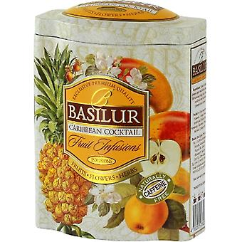 Basilur Tea - Caribbean Cocktail - Loose Black Tea In A Tea Caddy