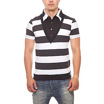 Short-sleeved men's RUSTY NEAL black striped