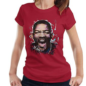 Sidney Maurer Original porträtt av Will Smith Women's T-Shirt