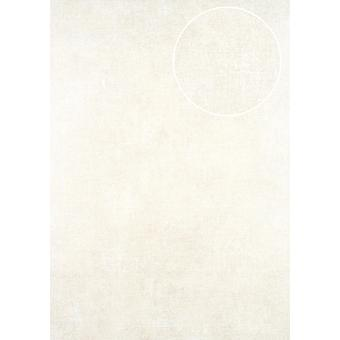 Uni wallpaper ATLAS CLA-598-1 non-woven wallpaper smooth, shimmering in the used look white perl 5.33 m2