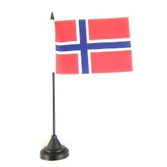 Noorwegen tabel vlag met Stick en Base