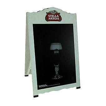 Stella Artois Pilsner Beer Double Sided Chalkboard Sandwich Board