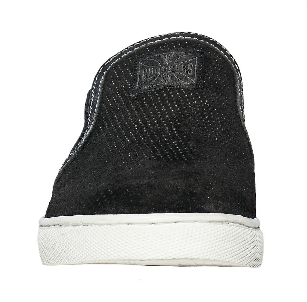 West Coast Choppers Schuhe Outlaw Black Suede Slip-Ons Black Outlaw d78426