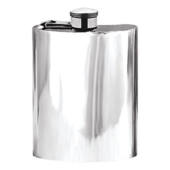 Plain Captive Top Pewter Flask - 6oz