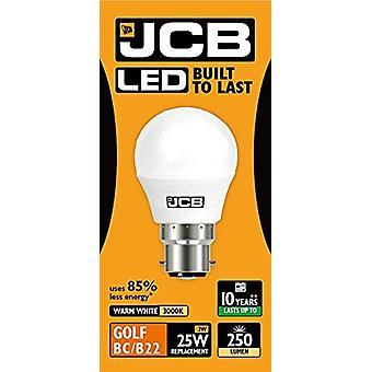 1 X JCB LED 3w = 25w B22 Golf Ball Bulbs Bayonet 250lm Warm White 3000k Non Dimmable [Energy Class A+]