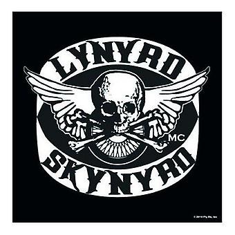 Lynyrd Skynyrd-Logo (Biker Patch B&W) Single trinkt Matte / Coaster