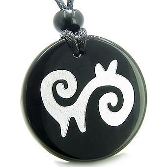 Amulet overnaturlige energi åndelige vei beskyttelse krefter Onyx medaljong halskjede