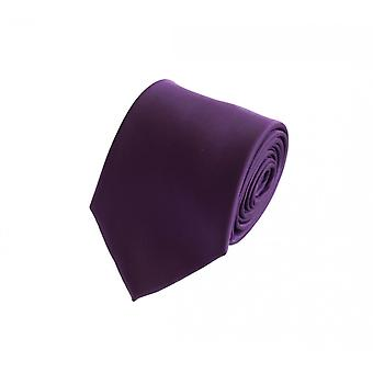 Schlips Krawatte Krawatten Binder 8cm lila Fabio Farini