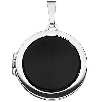 Medaljong 925 /-s Onyx sølv Medaillion gemstone medaljong