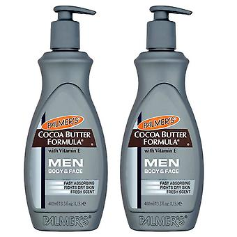 Palmer's Cocoa Butter Formula Men Body & Face Lotion 400ml (2-Pack)