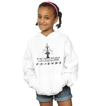 Friends Girls Fountain Sketch Hoodie