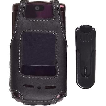 Wireless Solutions - Swivel Clip Leather Case for Motorola RAZR2 V9, V9m
