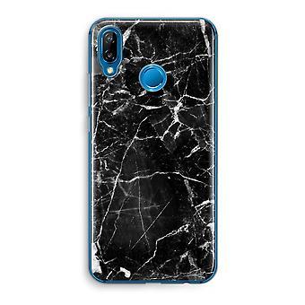 Huawei P20 Lite caja transparente (suave) - mármol negro 2