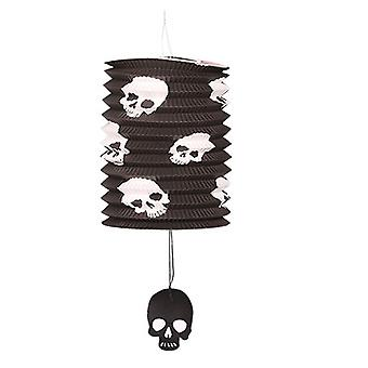TRIXES Pop-up Black Skull Barrel Lampe Halloween Party Dekoration Laterne