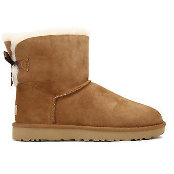 UGG Womens Chestnut Brown Mini Bailey Bow II Boots