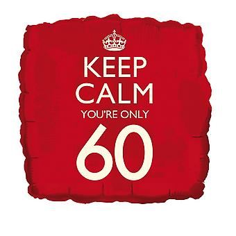 Creative Party 18 Inch Keep Calm Youre Only 60 Foil Birthday Balloon
