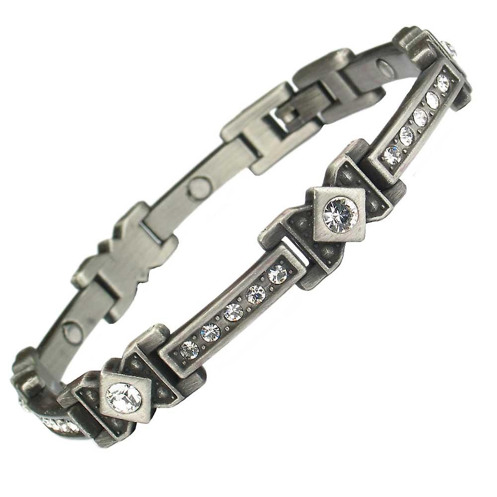 MPS® CHRISTO Magnetic Bracelet with Clear Crystals + Free Resizing Tool