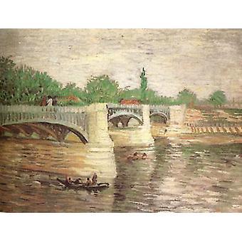The Seine with the Pont de la Grande Jatte, Vincent Van Gogh, 32 x 40.5 cm
