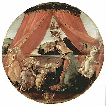 Madonna and Child, Sandro Botticelli, 50x50cm