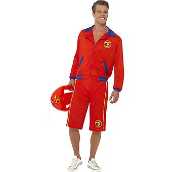 Baywatch lifeguard costume lifeguard Hasselhoff men