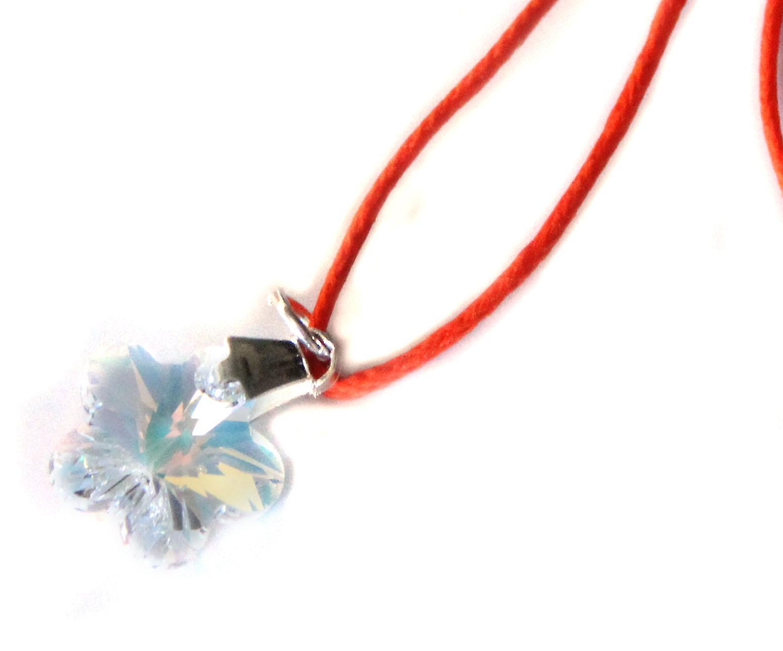 Waooh - gioielli - Swarovski / Flower Collana perla blu