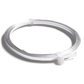 1 x Silver Plated Copper 0.75 x 3mm x 1m Flat Tape Craft Wire Coil X1270