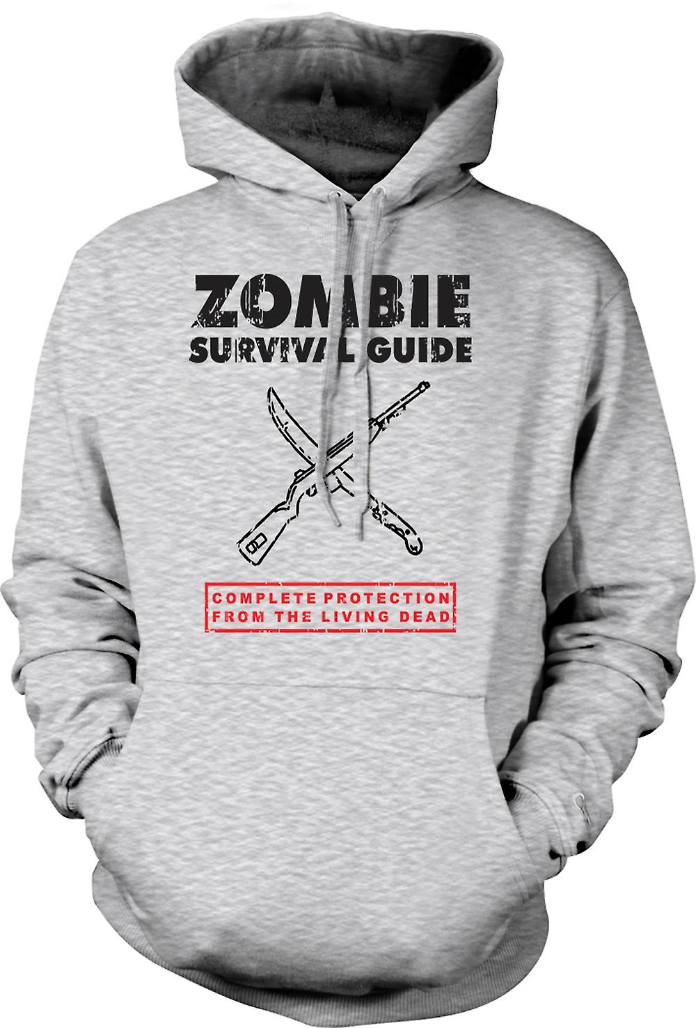 Mens Hoodie - Zombie Survival Living Dead - Funny