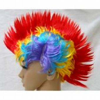 Mohican Wig - multi farget