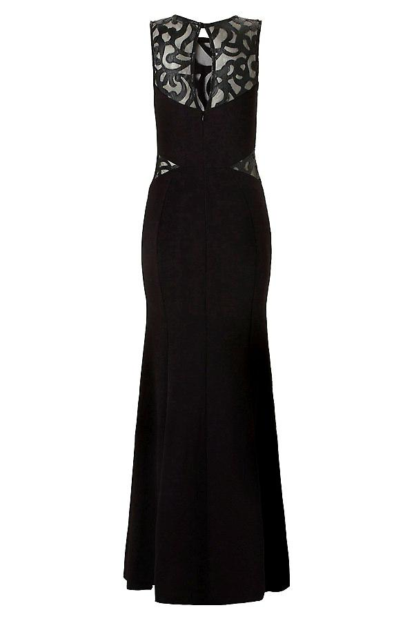 Waooh - Evening dress with semi-transparent neckline Anor