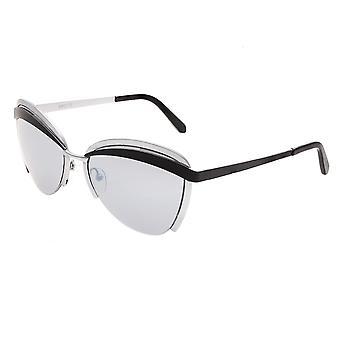Bertha Aubree Polarized Occhiali da sole - argento/nero