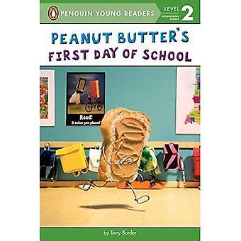 Primo giorno di burro di arachidi di scuola