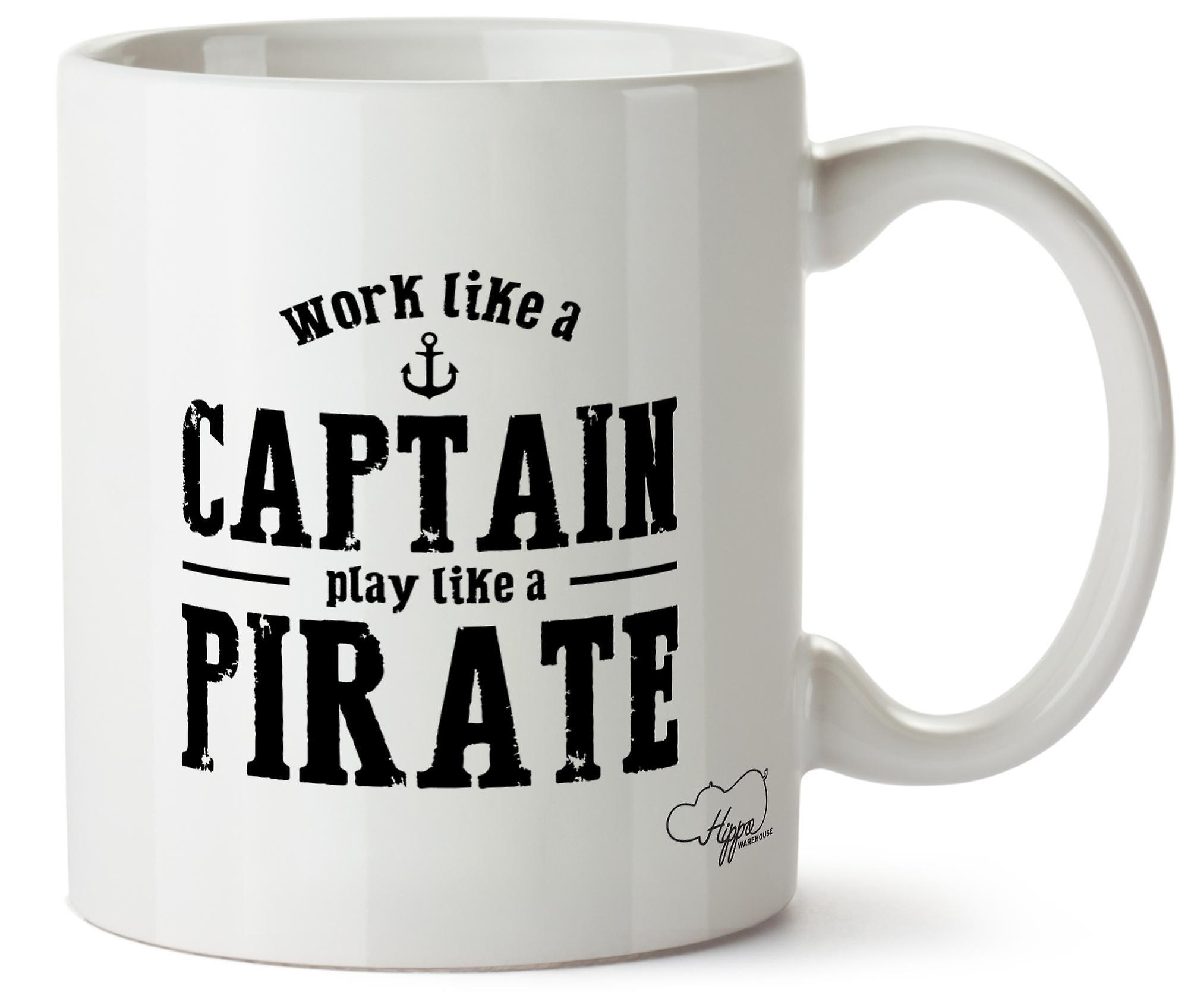 Hippowarehouse Travail Tasse Pirate Comme Un Capitaine A Cup Play 10 Oz Like htrsQd
