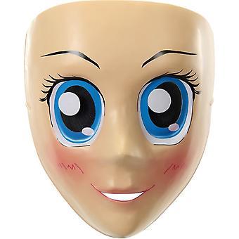 Ojos de anime la máscara azul para adultos