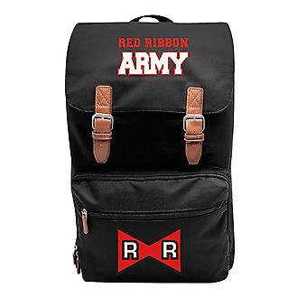 Dragon Ball Z XXL Backpack Red Ribbon schwarz, bedruckt, 100% Polyester, mit Magnetverschluss.