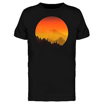 Pôr do sol montanhas Tee gráfico MASC-imagem por Shutterstock